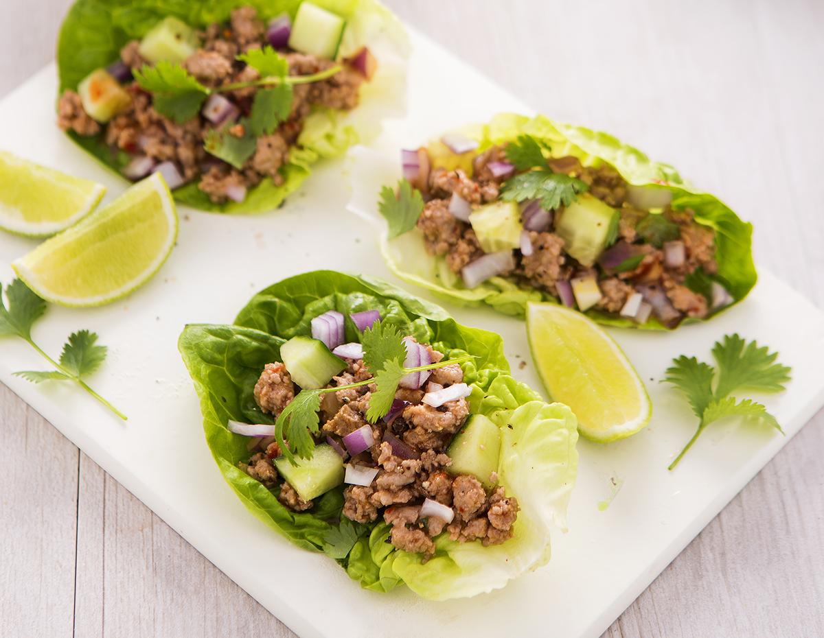 Thai Lettuce Wraps by Sneaky Greens.
