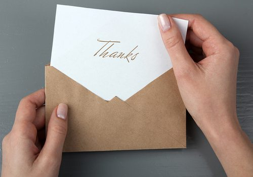Write Thank You Notes for Clients