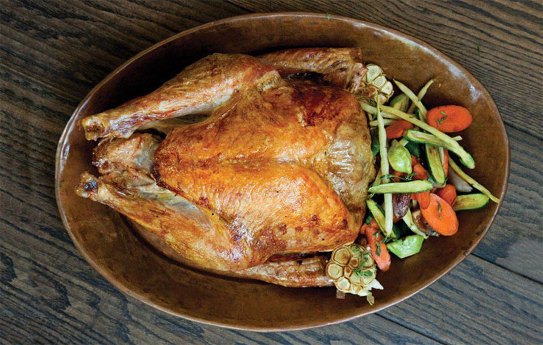 cooked turkey and veggies