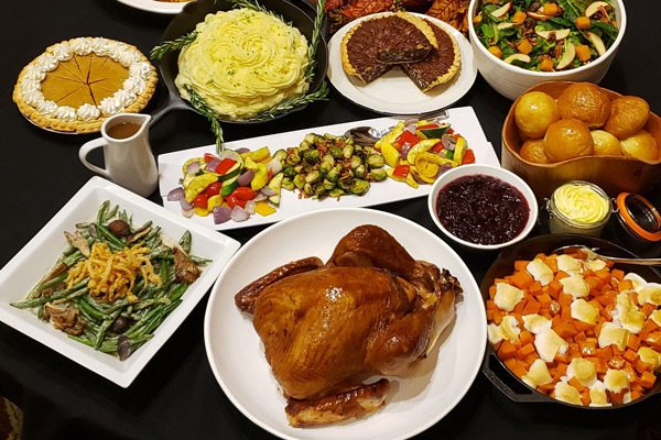 Thanksgiving Day spread at Hemingway's Blue Water Café
