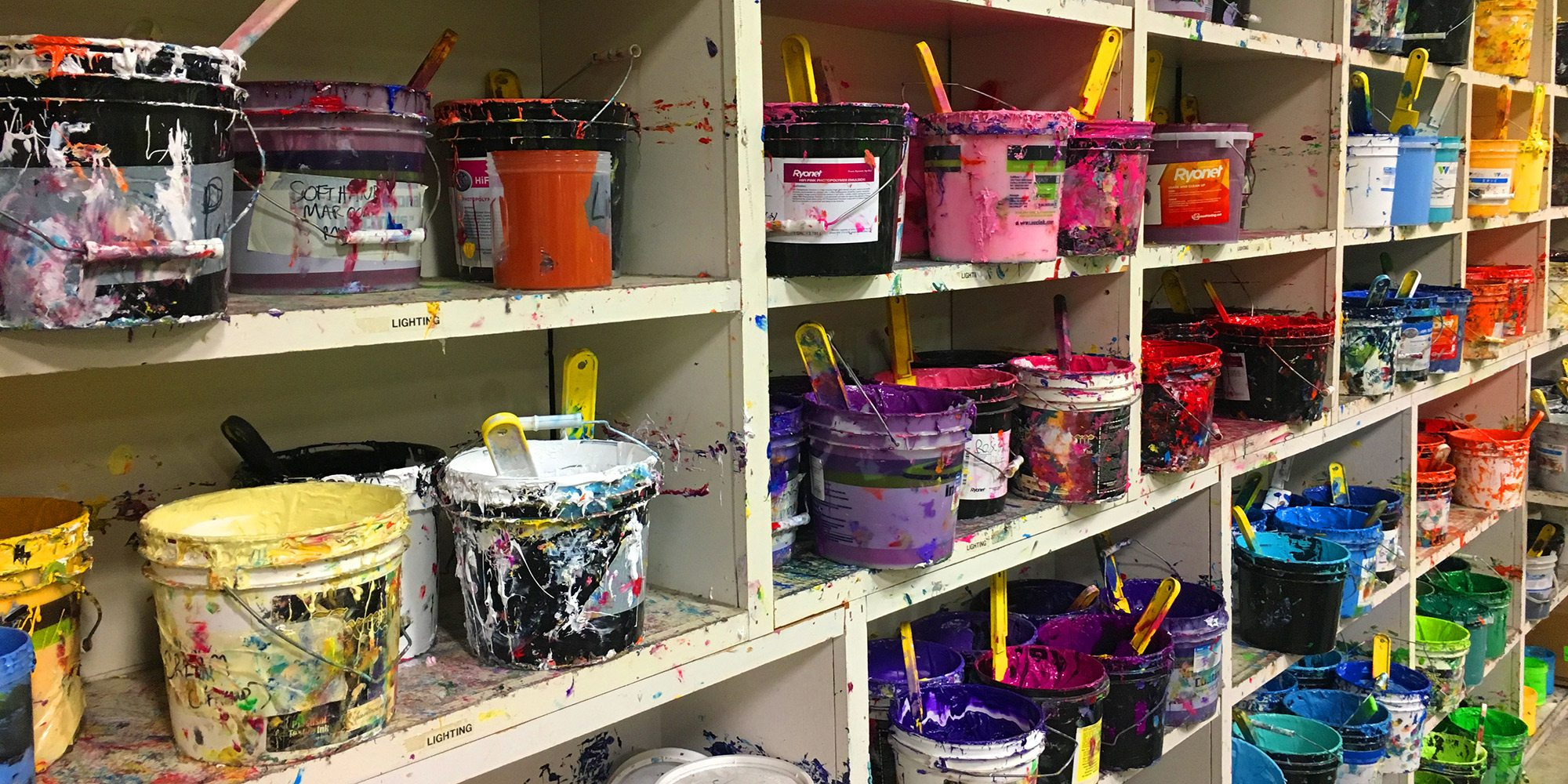 All of printing inks at The Greek Corner Screen Printing and Embroidery Springfield MO