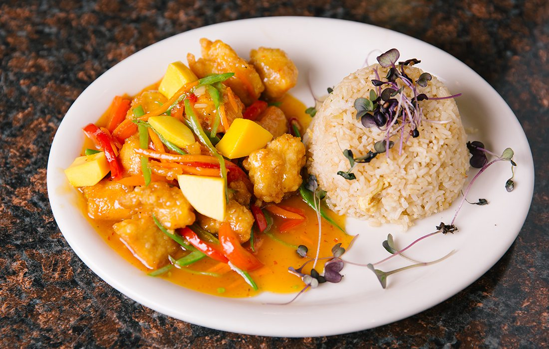 Mango Chicken at Leong's Asian Diner in Springfield MO