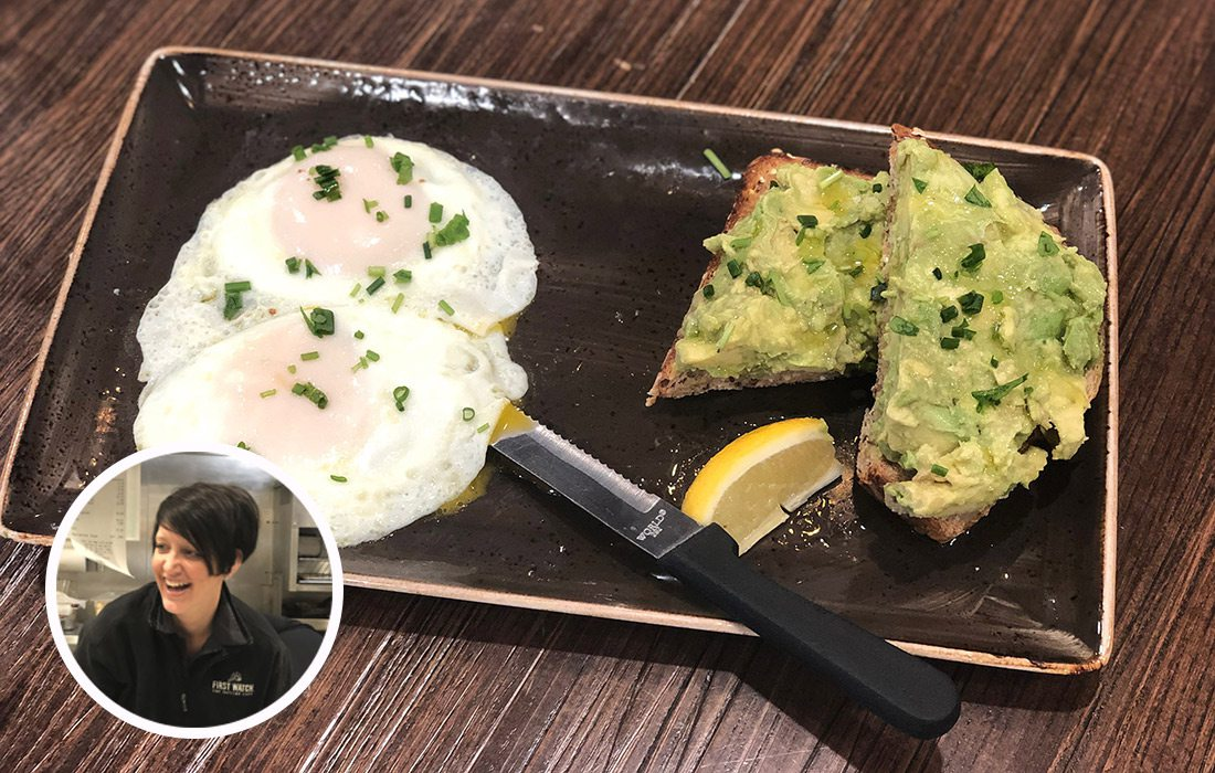 Avocado Toast & Based Eggs from First Watch