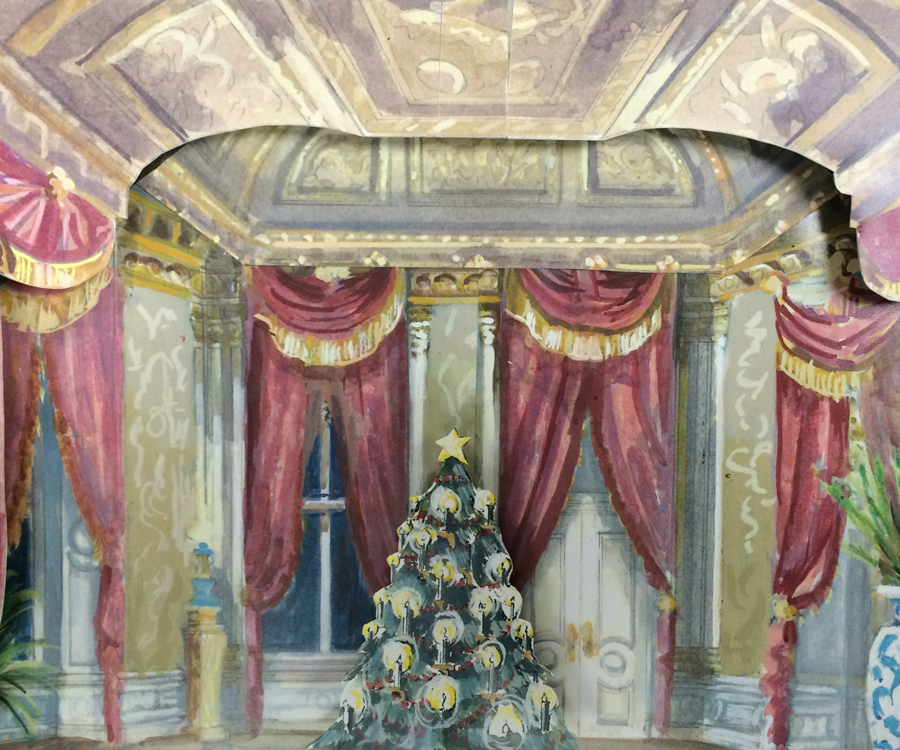 Set designer Roger LaVoie designed new backdrops for Springfield Ballet's The Nutcracker.