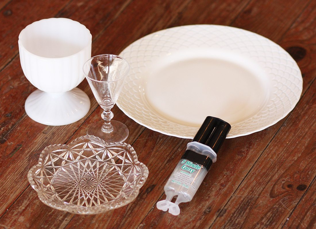 DIY Cake Stand: Before