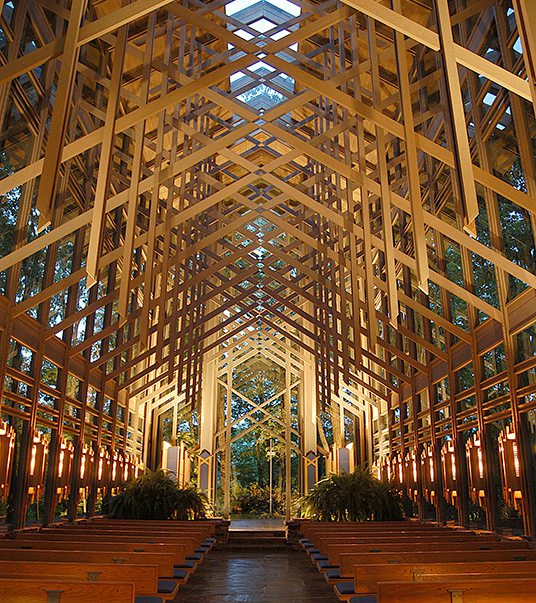 Thorncrown Chapel in Eureka Springs, AR.