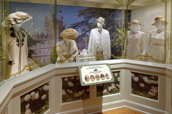 Downton Abbey exhibit display at Titanic Branson