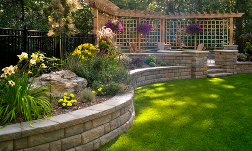 Backyard Retaining Walls