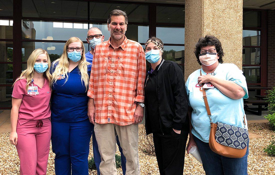 Mike Manzardo and CoxHealth hospital staff