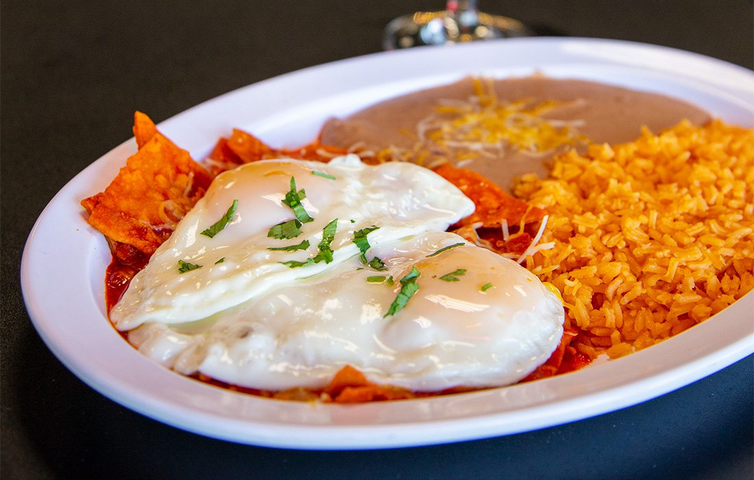 chilaquiles at Tortilleria Perches