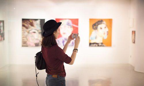 Art museum stock image
