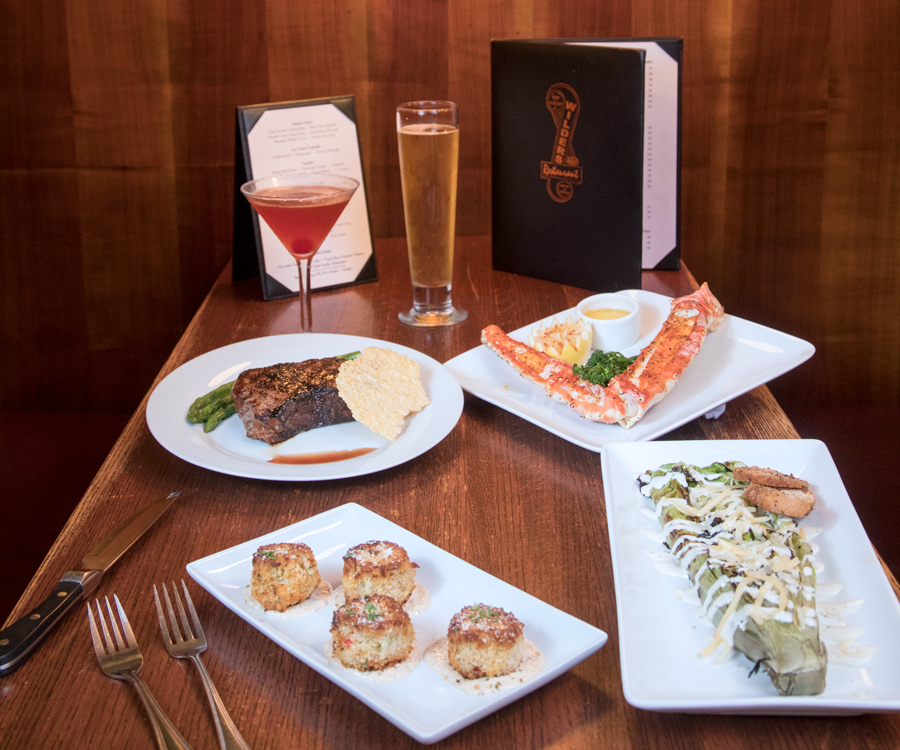 Wilder's Steakhouse boasts a menu full of surf and turf options.