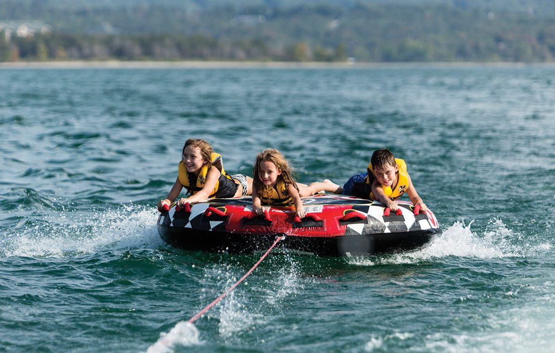 Kids tubing on Table Rock Lake