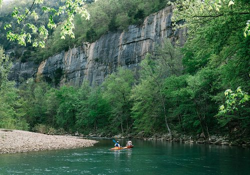 Floating on the upper Buffalo River