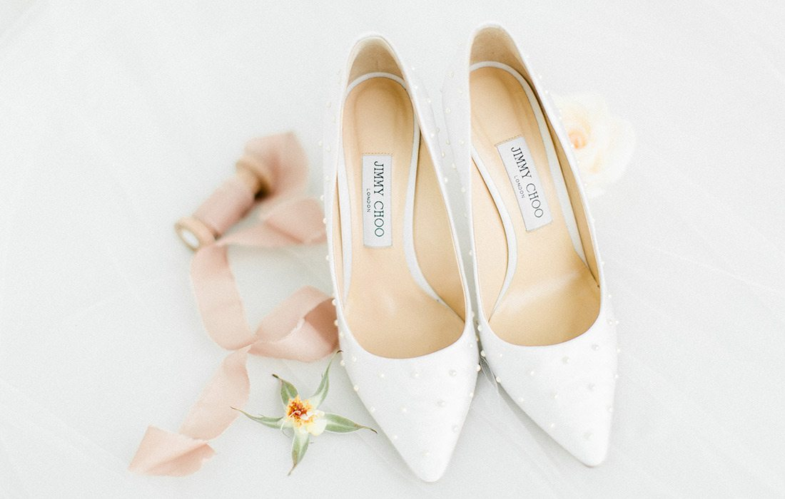 Valerie Moore's Jimmy Choo wedding shoes