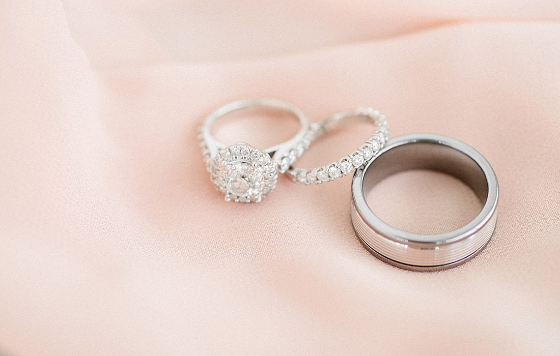 Valerie Moore & Jacob Johnson's wedding rings