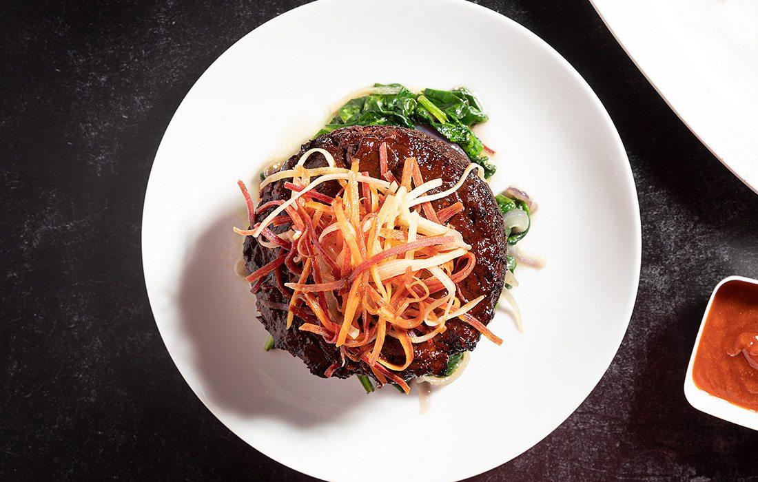 Vegan meatloaf at Metropolitan Grill in Springfield MO