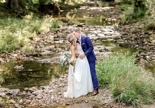 Outdoor wedding at Venue 481/Barn at Walnut Creek in Marshfield, MO