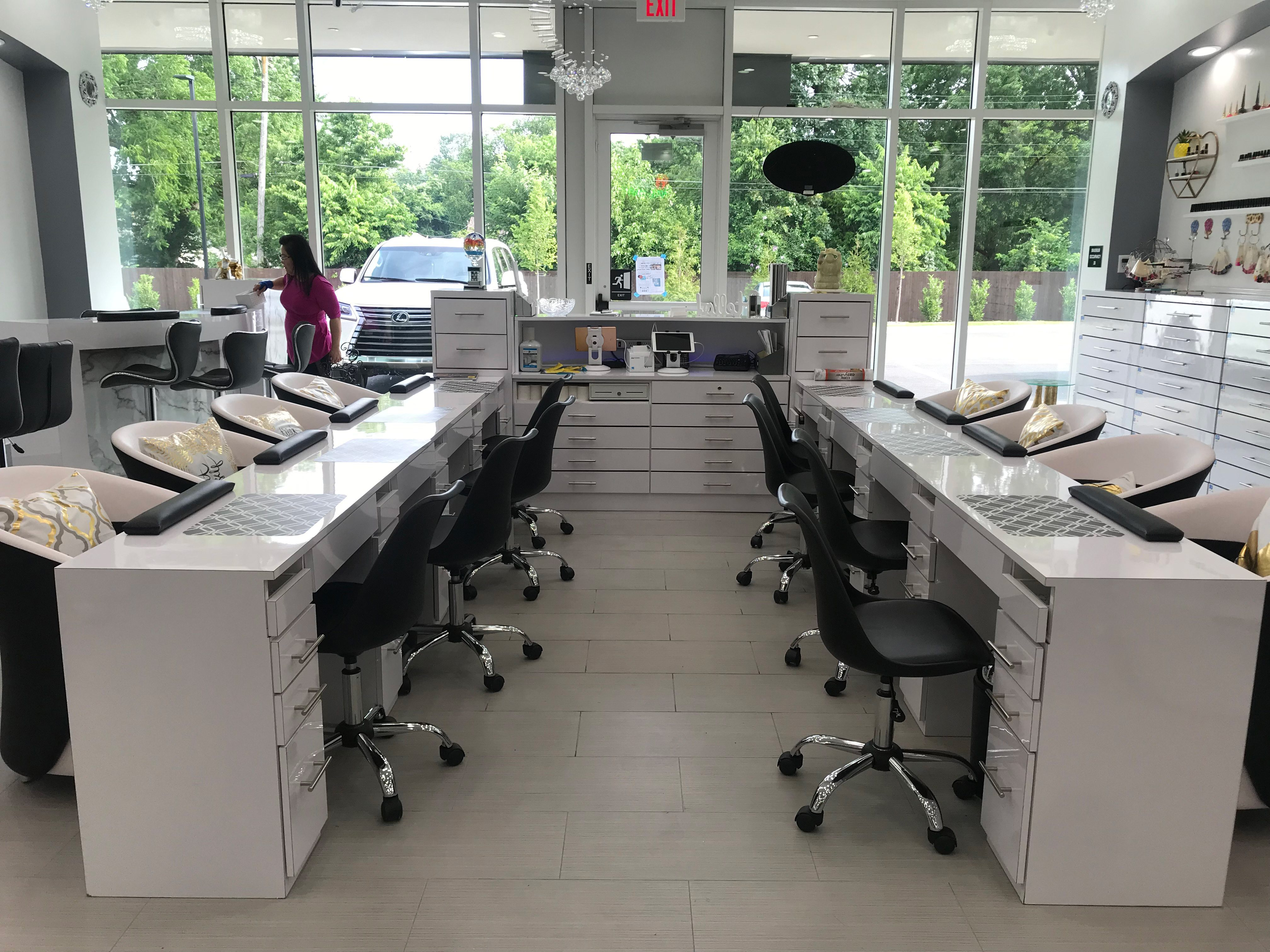 Venus Nail Bar houses eight manicure stations.