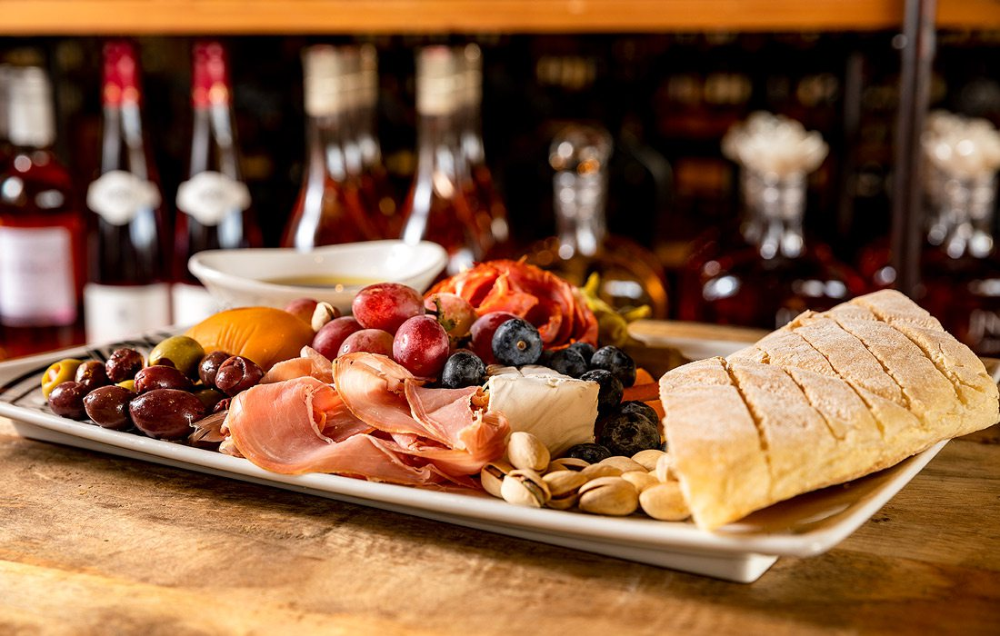 Charcuterie board at Vineyard Market