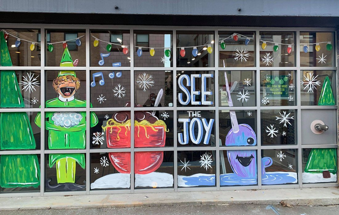 Vision Clinic holiday window display