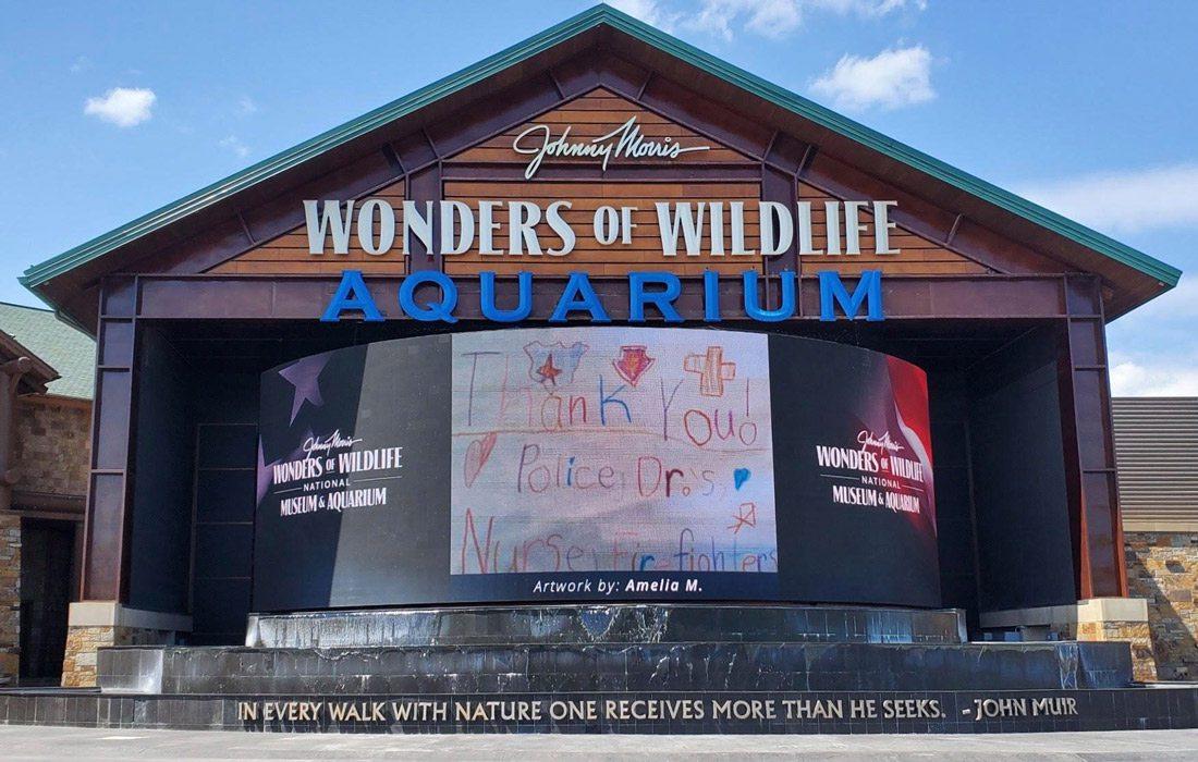Wonders of Widlife display during shutdown
