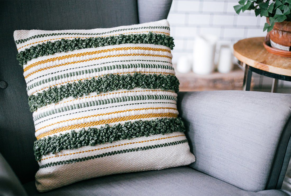 Weaved Yarn Pillow by Little Weave Bird