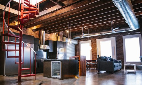 The Modern Industrial Loft We're Loving Right Now