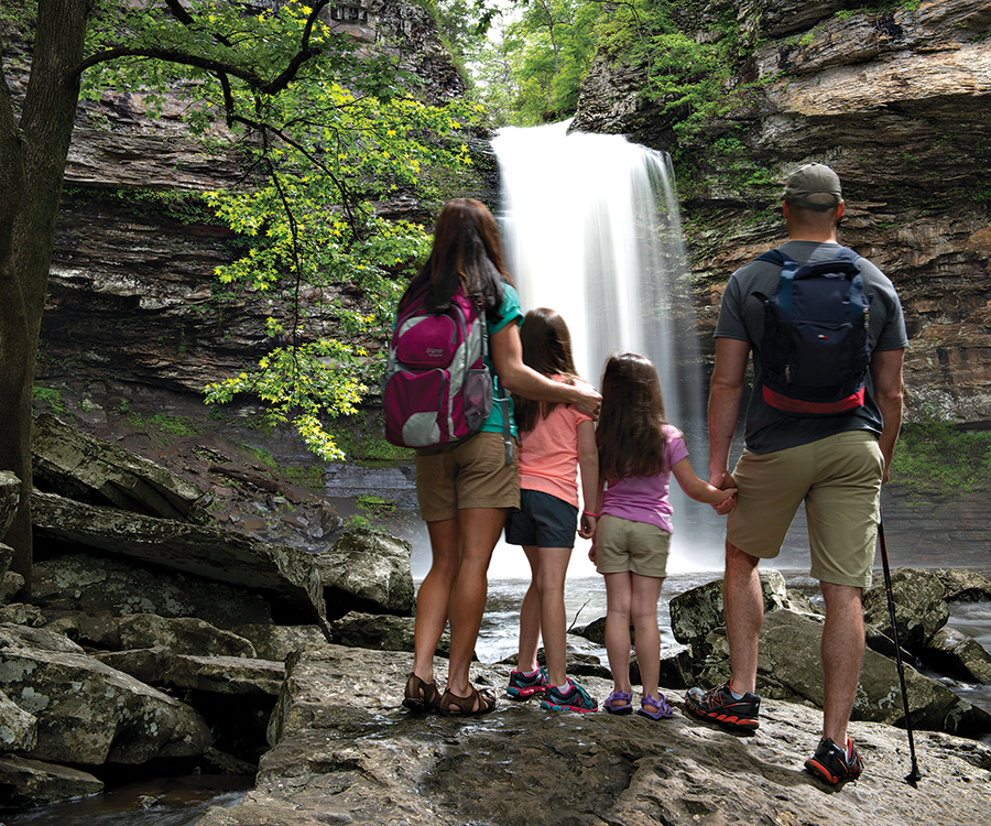 Petit Jean State Park in Arkansas is home to the 95-foot Cedar Falls