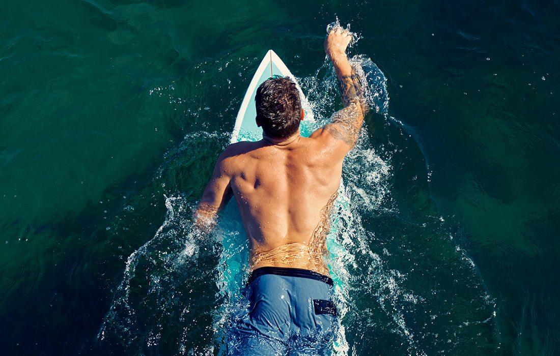 Guy on a paddleboard