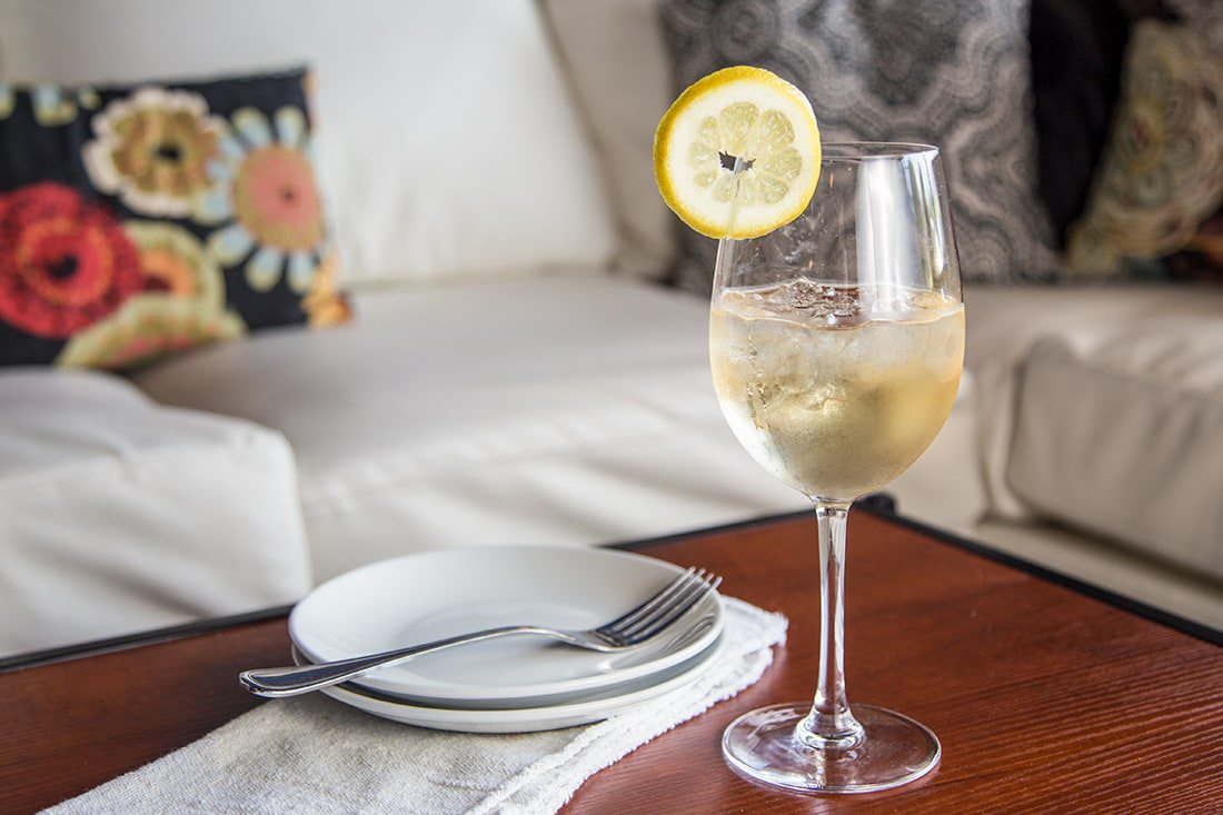 White Rate Wine Spritzer from Cellar + Plate