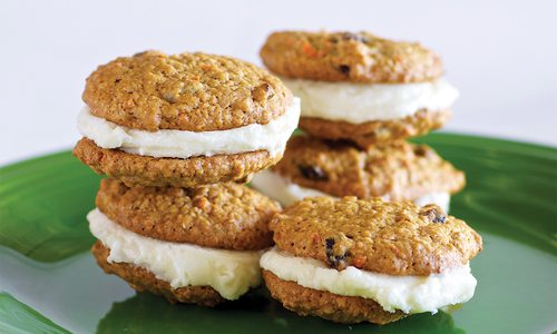 Whoopie Carrot Cakes with Cream Cheese Frosting