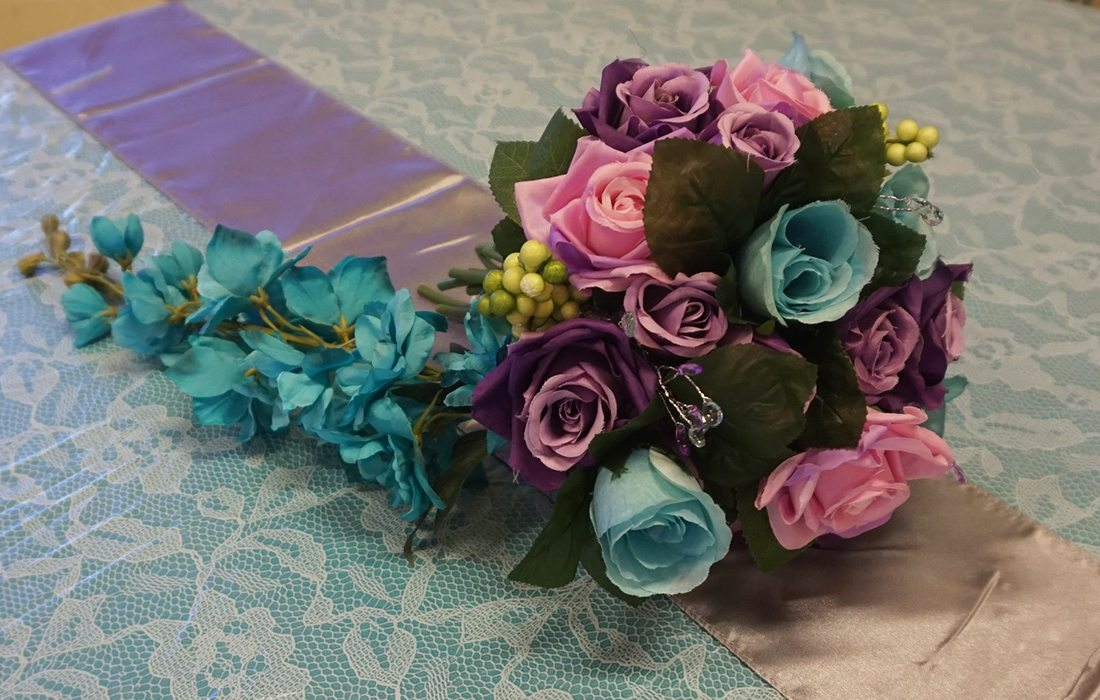 Wonderland Events and Party Rental wedding bouquet