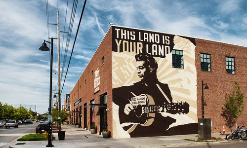Woody Guthrie museum in Tulsa, Oklahoma