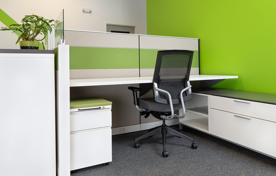 Modern office space at Volt Credit Union's headquarters in Springfield MO