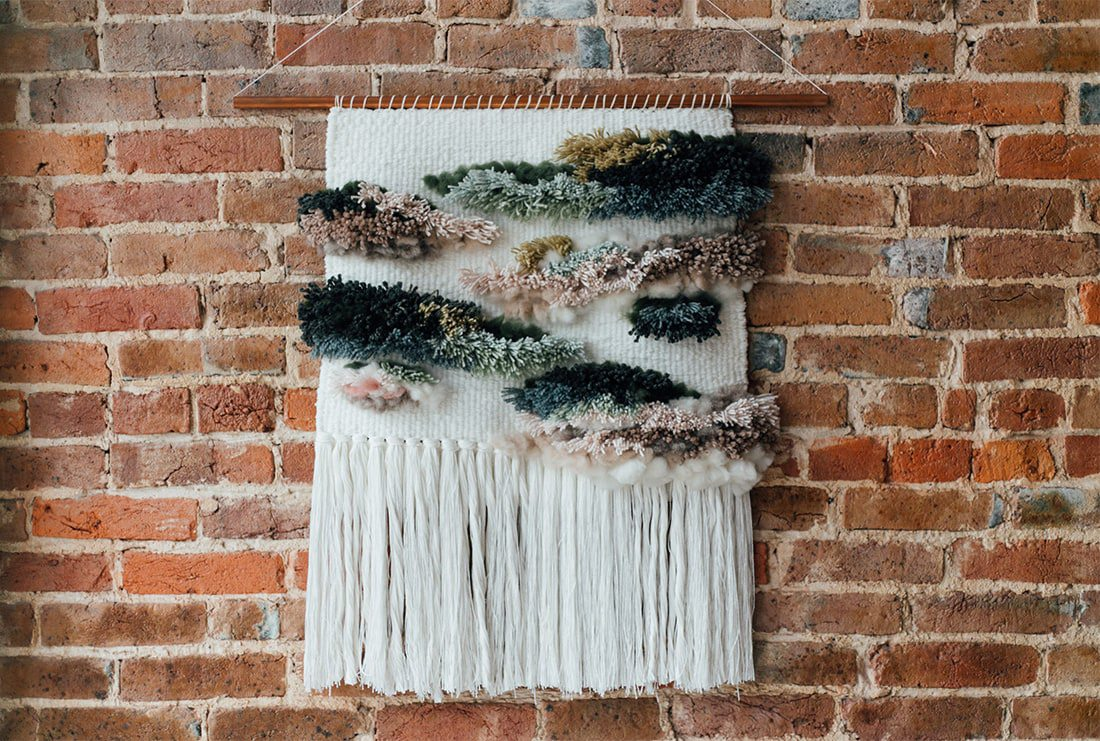 Weaved Yarn Wall Hanging by Little Weave Bird