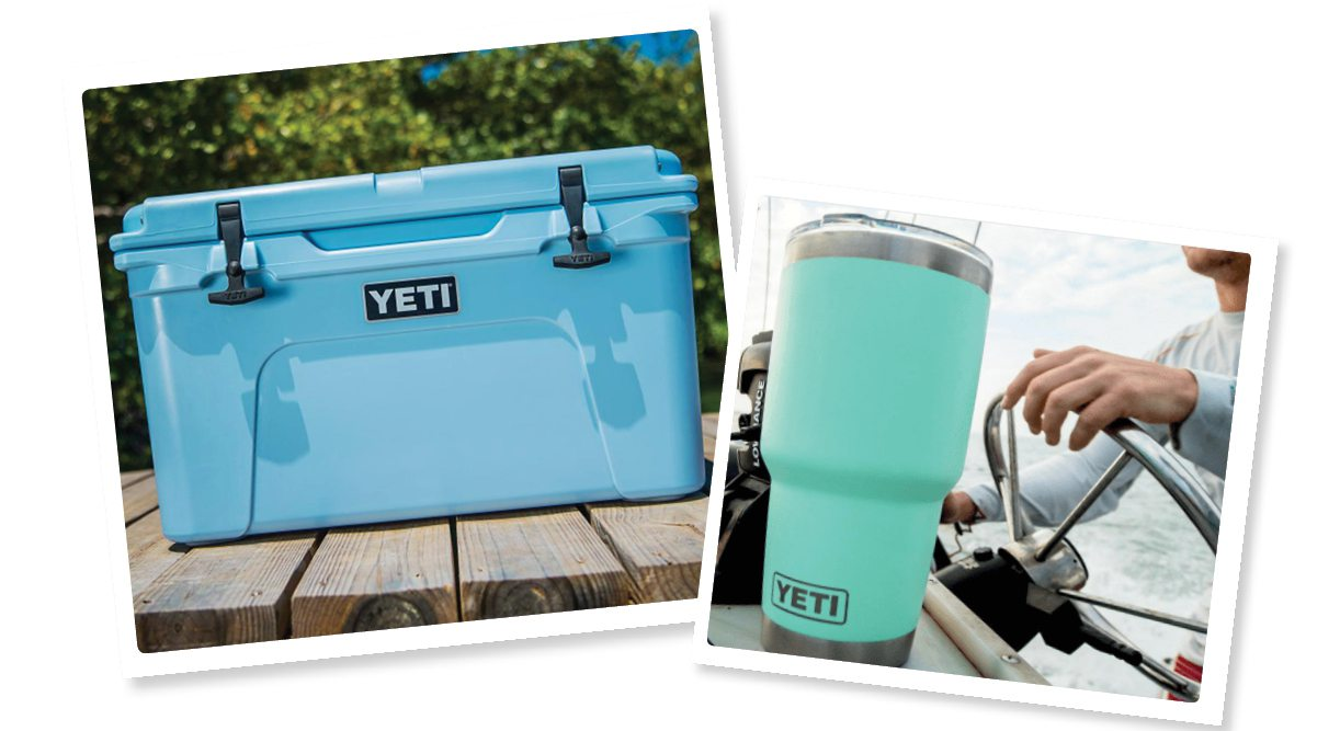 Yeti cooler and cup