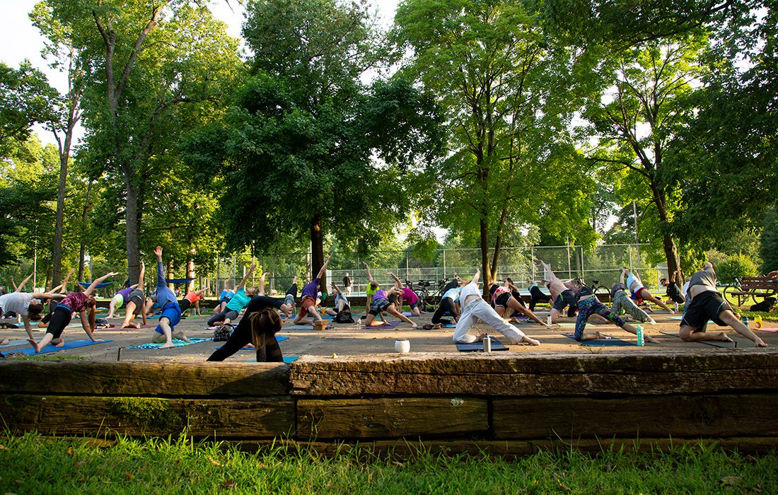 Yoga at Phelps Grove Park in Springfield, MO