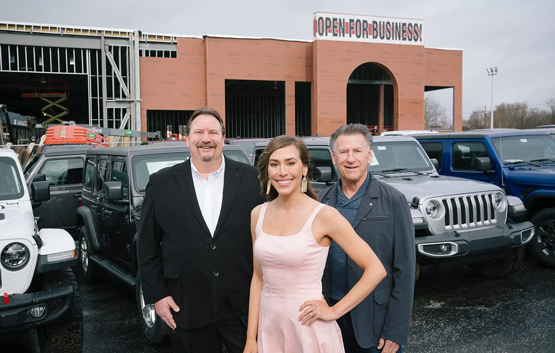 John Widiger, Gentry Johnson and John Youngblood of Youngblood Auto Group