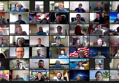 JMARK employee Zoom call