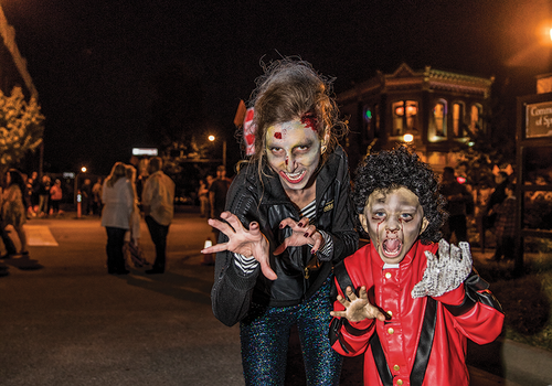 Costumes and Thriller on C-Street