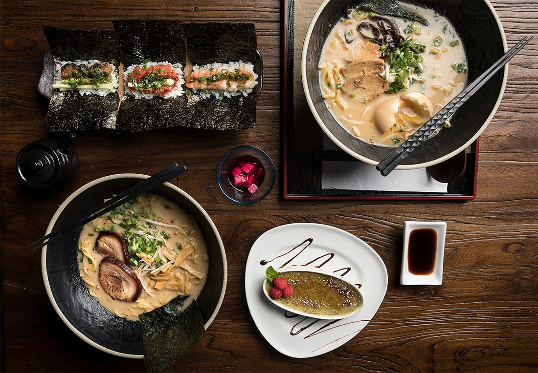Ramen, handrolls, sandwiches, desserts and more.