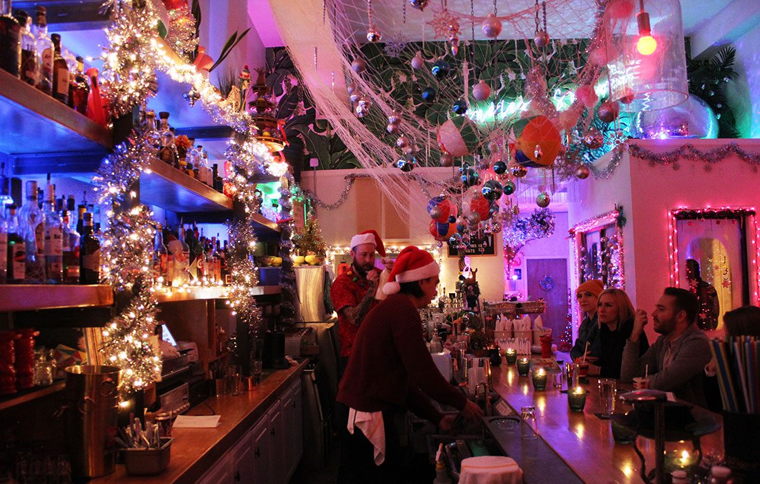 Christmas pop-up bars and decoration in Springfield, MO
