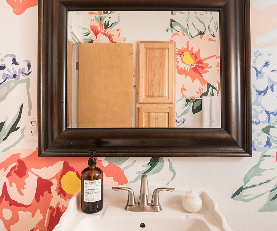 DIY Paint Your Own Bathroom Blooms