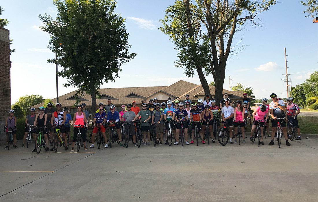cyclists lined up in springfield