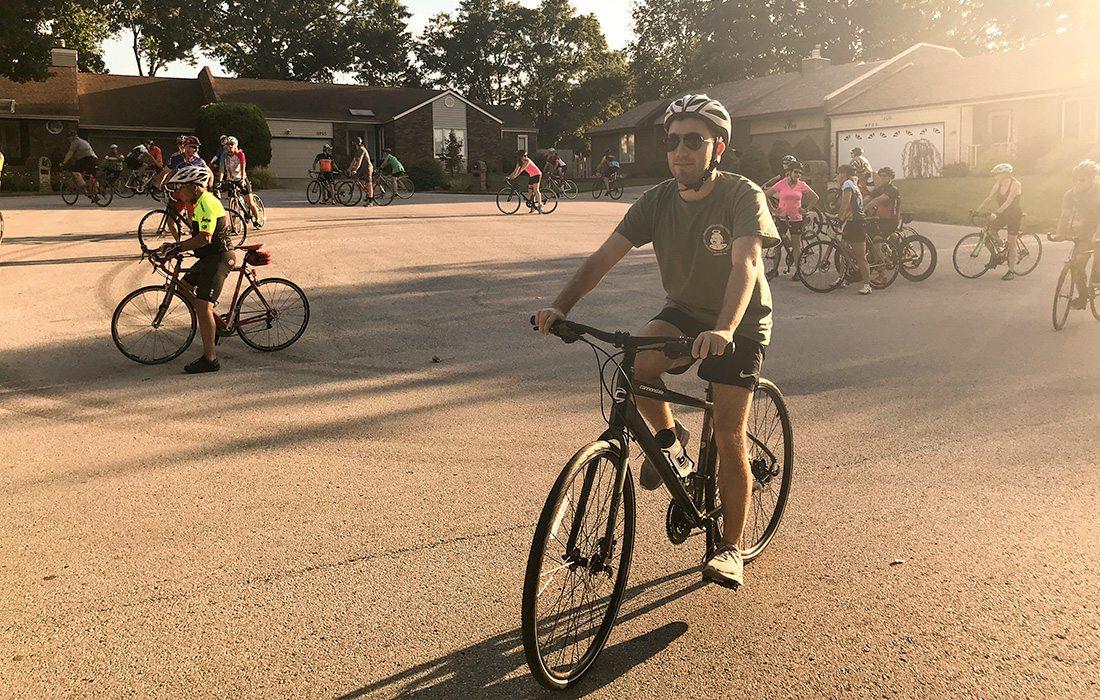 evan biking