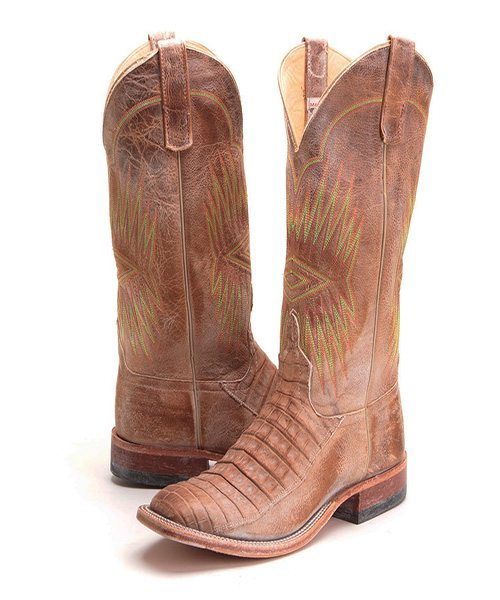 Anderson Bean men's caiman alligator cowboy boots
