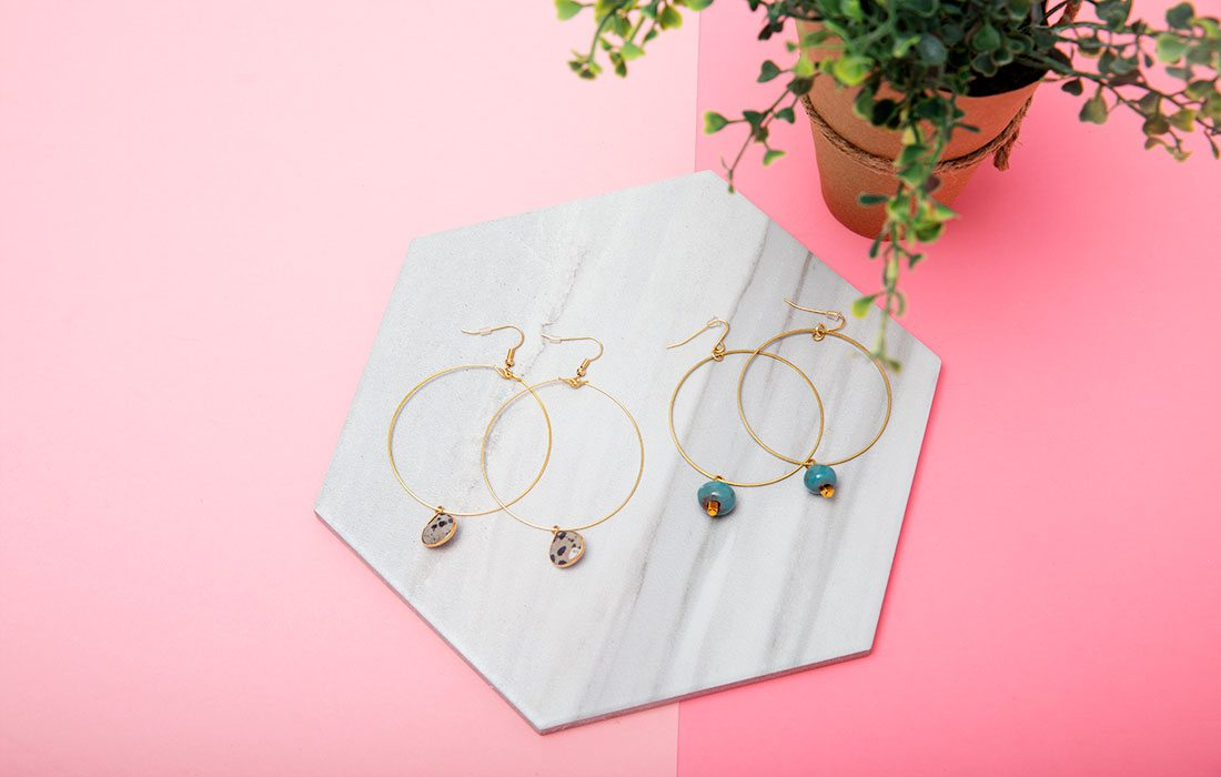 Drop Hoop Earrings from Clothe Boutique