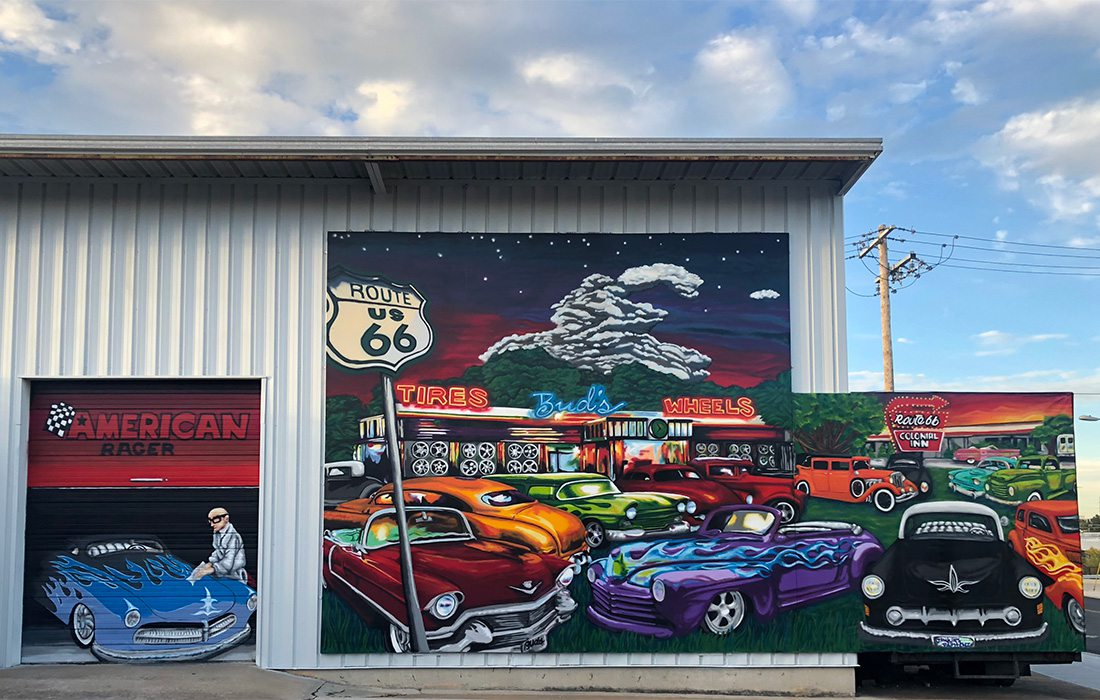 Route 66 mural in Springfield MO