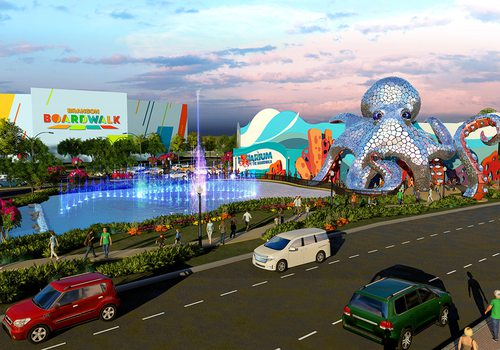 Concept art of Aquarium at the Boardwalk from Kuvera Partners